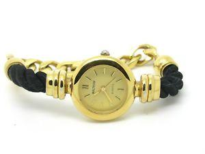 【送料無料】quartz ladies waltham watch gold plated casing amp; strap gp amp; pleated
