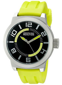 kenneth cole reaction rk1434 green silicone watch no box