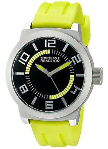 【送料無料】 kenneth cole reaction rk1434 green silicone watch no box