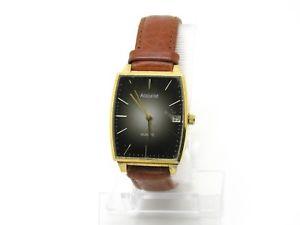 【送料無料】gents accurist watch c1980s cal 6m12 replacement leather strap boxed