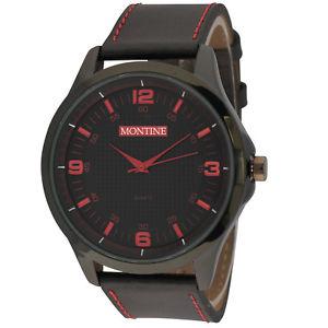 【送料無料】montine mens designer watch genuine leather quartz mow4566gsk rrp 4999