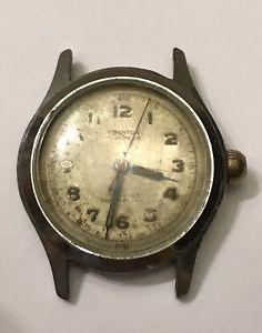 【送料無料】antique vintage branton incabloc 17j swiss military mens wrist watch bye