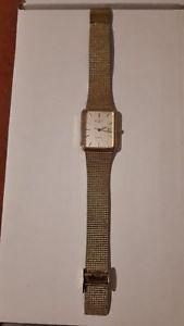 【送料無料】mens vintage rotary swiss gold plated stainless steel watch 3698