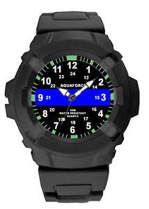【送料無料】aquaforce thin blue line watch water resistant law enforcement rothco 4381