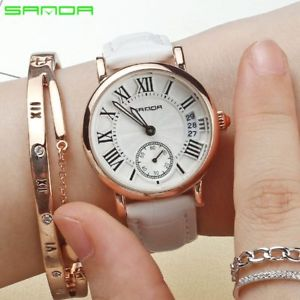 【送料無料】2017 women watches waterproof luxury fashion leather strap quartz watch ladies r