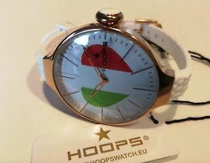 【送料無料】orologio donna hoops,glam,oro rosa,cinturino silicone,l 35 mm,cuore,tricolore