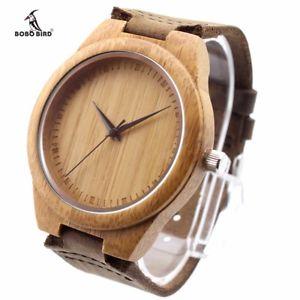 【送料無料】bobo bird unique lover natural bamboo wood casual quartz watches classic styl