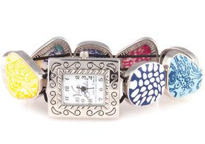 【送料無料】viva beads jumble square pebble watch