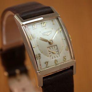 【送料無料】1950 longines gents vintage swiss 2tone watch 10k gold f'd fully serviced