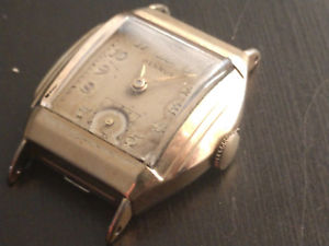 【送料無料】clean~50s vintage mens benrus 10k rgp watch art deco tnk case, ufi