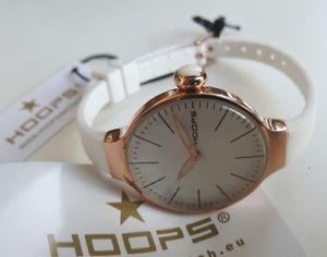 【送料無料】orologio donna hoops,glam,acciaio ip oro rosa,cinturino silicone,small 29 mm