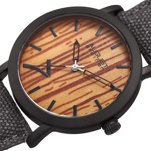 mens august steiner as8238gy signature seven genuine leather canvas strap watch
