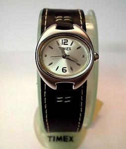 【送料無料】orologio timex t79761 donna quarzo cinturino pelle quarzo wr10 atm linea retro
