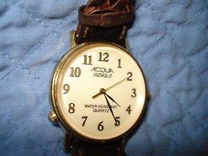 【送料無料】acqua indiglo wrist watch working