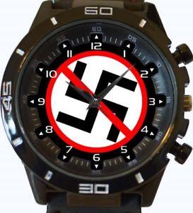 【送料無料】anti nazi sign gt series sports wrist watch fast uk seller