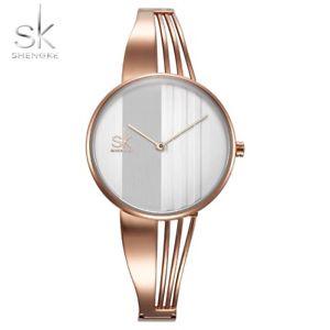 【送料無料】shengke fashion goldplated women watches charm ladies wristwatch gifts for her