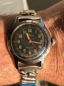 【送料無料】vintage mens camy military watch 17 jewel