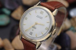 【送料無料】vintage movado factories day date bumper automatic cal 118 14k bezel watch