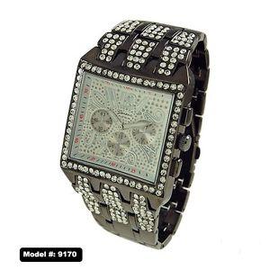 【送料無料】hip hop mens gold plated cubic zirconia cz geneva bling iced out wrist watch