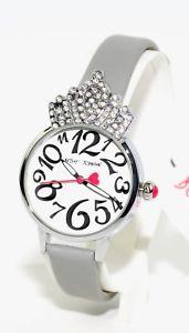 【送料無料】betsey johnson womens crystal crown case watch bj0066301bx,