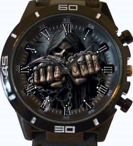 【送料無料】gothic fist skull gt series sports wrist watch fast uk seller