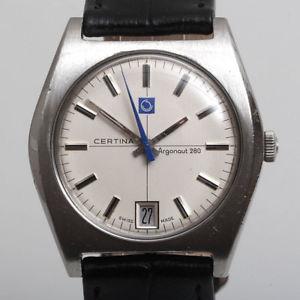 certina argonaut 280 luxus sammler herrenuhr von 1968  kaliber 25661