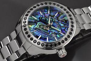 【送料無料】aragon a222blk savant gemstone abalone automatic