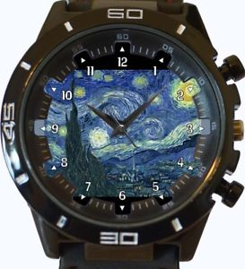 【送料無料】starry night art wrist watch fast uk seller
