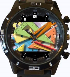 【送料無料】maths geometry teacher gt series sports wrist watch
