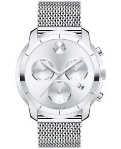 【送料無料】 movado bold 3600371 large chronograph mesh steel bracelet watch