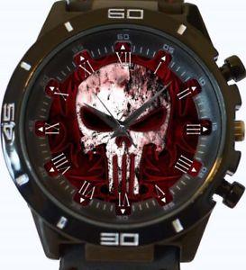 【送料無料】gothic punisher skull gt series sports wrist watch fast uk seller