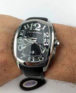 【送料無料】orologio chronotech 7998m prisma crystal watch uomo facile lettura 40mm nero