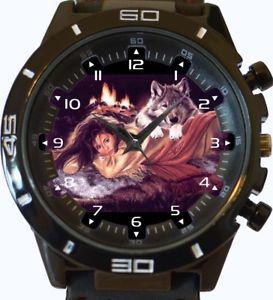 【送料無料】romancing wolf wrist watch fast uk seller
