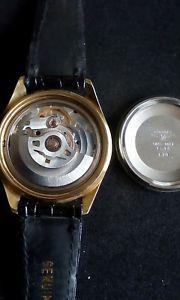 longines automatic gold plated gents vintage wristwatch cal l633 eta 28242