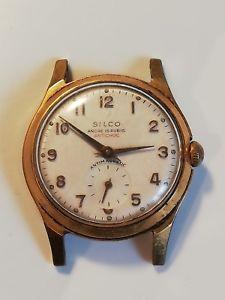 【送料無料】montre vintage plaqu or silco ancre 15 rubis
