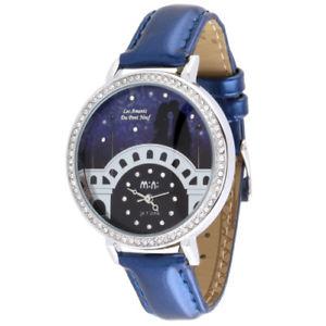 【送料無料】valentines couple theme fashion watch crystal rhinestones blue woman analog