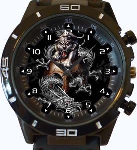 【送料無料】chinese dragons yin yang wrist watch fast uk seller