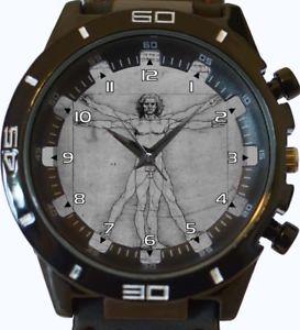 【送料無料】vitruvian man wrist watch fast uk seller