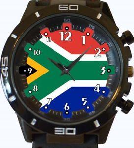 【送料無料】flag of south africa gt series sports wrist watch