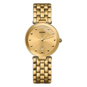 【送料無料】rado womens florence 28mm gold plated bracelet amp; case quartz watch r48872253
