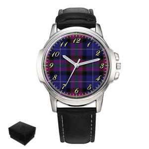【送料無料】pride of scotland scottish clan tartan gents mens wrist watch gift engraving