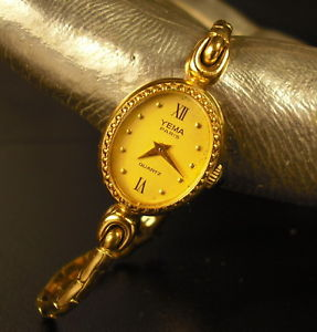 【送料無料】montre de femme yema paris quartz woman watch
