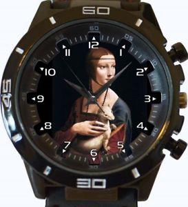 【送料無料】lady portrait retro art gt series sports wrist watch