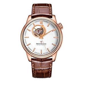 【送料無料】 dreyfuss amp; co dgs0016302 mens skeleton automatic watch 2 year warranty