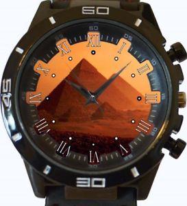 【送料無料】egyptian pyramids sunset view gt series sports wrist watch