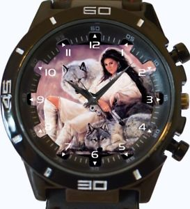 【送料無料】white wolves and the lady wrist watch fast uk seller
