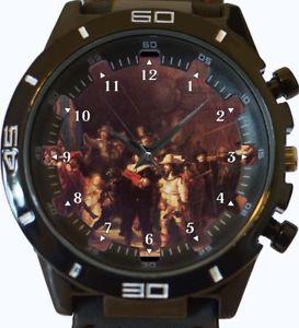 【送料無料】night watch abstract art wrist watch fast uk seller