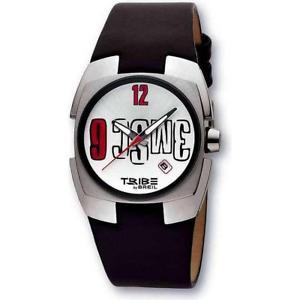 【送料無料】breil orologio polso maschile tribe tw0195 pelle nero originale logo 3msc nuovo