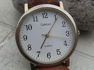 【送料無料】carriage,ancienne montre us seventies mixte ,cadran affin,bracelet croco