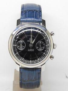 【送料無料】chronographe acier zal cadran bleu mouvement landeron 149,vintage chrono